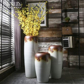 Retro ground vase do old large sitting room flower vase handmade ceramic POTS creative household decorative furnishing articles