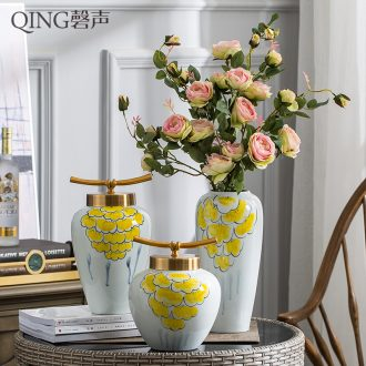 New Chinese jingdezhen ceramic plug vase furnishing articles european-style package vase household living room TV ark soft outfit decoration