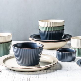 Million jia ou ceramic plate household dish plate western food steak plate creative emboss eat bowl large salad bowl