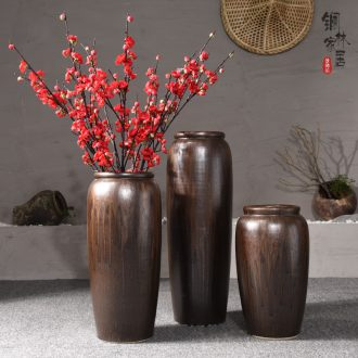 Ground vase large antique dry plug simulation flower POTS Chinese style restoring ancient ways is the sitting room porch place jingdezhen ceramics