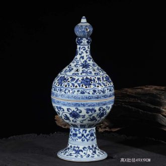 Archaize Ming xuande blue censer aromatherapy high classical jingdezhen porcelain mosquito incense burner porcelain incense burner