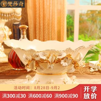 Brahman Sally's new creative luxury european-style compote large functional ceramic fruit bowl sitting room place a wedding gift