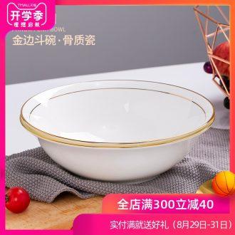 Phnom penh soup bowl edge of jingdezhen ceramic bone porcelain bowl with rainbow noodle bowl big rainbow noodle bowl hat to bowl