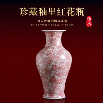 Jingdezhen ceramic vase furnishing articles new Chinese style household act the role ofing is tasted sitting room flower arrangement craft porcelain porcelain arts and crafts