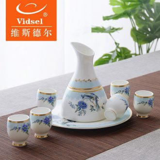 Vidsel wine wine suits the modern household liquor cup Chinese ceramic shot glass wine bottle wine to drink