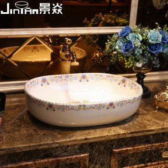 JingYan universal garden art stage basin ceramic lavatory toilet basin household artical lavabo