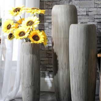 Lucky bamboo dried flowers big ceramic vase Nordic modern furnishing articles, arranging flowers sitting room be born creative home decorations