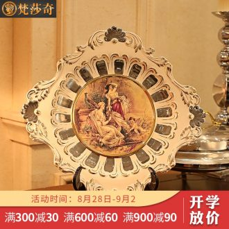 Vatican Sally's European character ceramic decoration plate furnishing articles household act the role ofing is tasted wine accessories rich ancient frame plate shelf
