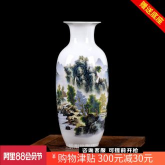Mountains and rivers xiuse mesa flower landscape painting porcelain bottles of jingdezhen ceramics home sitting room adornment is placed