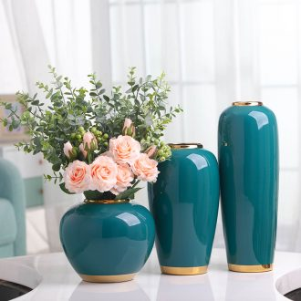 Nordic light much wind ceramic simulation flower vases, contemporary and contracted sitting room table example room suit dry flower arranging furnishing articles