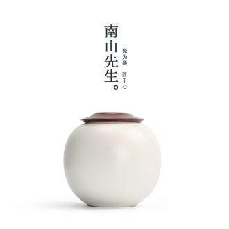 Mr Nan shan cloud the circular caddy large-sized ceramic seal pot Japanese kung fu tea set portable piggy bank
