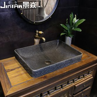 JingYan Chinese half embedded platform basin of archaize ceramic taichung basin sink and restoring ancient ways basin sinks