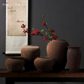 Chinese zen restoring ancient ways do old ceramic vases, creative home sitting room wine porch dried flowers floral furnishing articles