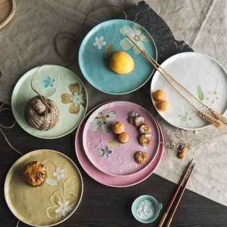 Ceramic plates creative Japanese dishes household personality clearance dish dish dish cheap cold dish restaurants