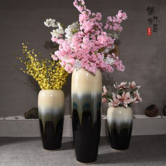 Ceramic sitting room ground european-style villa large vases, furnishing articles porch contracted type simulation flower flower vase