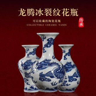 Ice crack of jingdezhen ceramics vase is wine TV ark creative household adornment handicraft furnishing articles in the living room