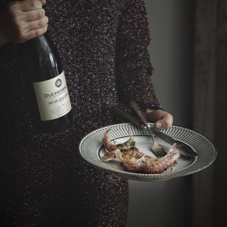 Ijarl million jia Nordic ceramic creative household restoring ancient ways smooth dish plate steak plate round plate dinner plate plug