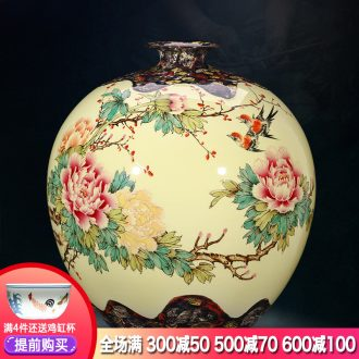 Master of jingdezhen ceramics hand-painted pastel antique vase Chinese TV ark adornment is placed large living room