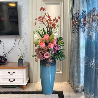 Ceramic vase landing a large sitting room dry flower arranging simulation flower furnishing articles sitting room suit contemporary and contracted vase flower arrangement