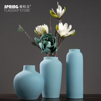 Contemporary and contracted ceramic vase furnishing articles home Nordic living room TV cabinet table soft adornment porch decoration