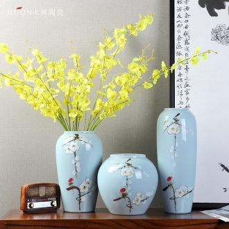 Jingdezhen hydroponic ceramic vases, flower arranging zen new Chinese style living room TV ark home furnishing articles