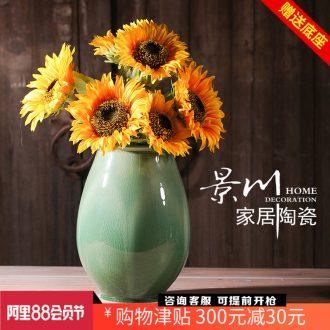 Jingdezhen ceramics ice crack crack glaze glaze vase modern home furnishing articles mesa of sitting room adornment handicraft