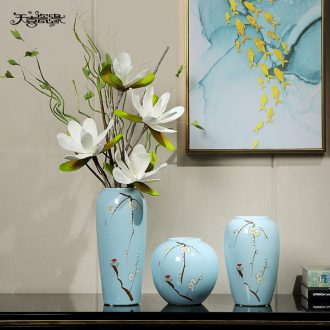 Jingdezhen ceramic vase furnishing articles of modern living room table dry flower arranging flowers TV ark contracted household soft adornment