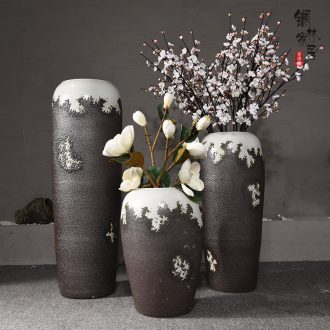 Ceramic sitting room ground European big vase simulation flower flower furnishing articles villa hotel contracted type ceramic vase