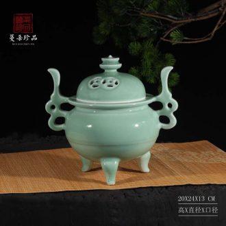 Upscale elegant fragrant incense burner high-grade fine mosquito incense burner upscale sandalwood incense burner ceramic porcelain incense burner