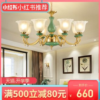 All copper pendant contracted modern european-style villa ceramic restaurant bedroom atmosphere sitting room lamps and lanterns lighting web celebrity