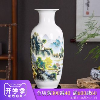 Jingdezhen ceramics lucky bamboo Chinese blue and white porcelain vase sitting room place large flower arranging TV ark adornment