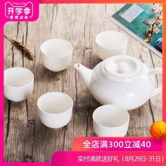 Make tea is rhyme of jingdezhen ceramic teapot large household hotel tea sets cool water pure white bone porcelain teapot