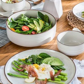 Million jia creative personality in the Nordic beauty western-style porcelain tableware suit the dishes the dishes simple household western food steak plate