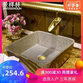 JingXiangLin European contracted jingdezhen traditional manual basin on the lavatory basin & ndash; & ndash; Mountain peaks,
