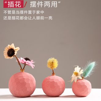Creative ceramic pomegranate vase furnishing articles dried flower arranging flowers contemporary and contracted sitting room floret small pure and fresh and home decoration