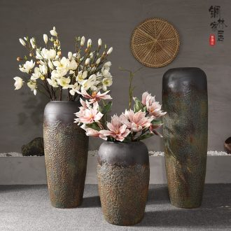 Jingdezhen Chinese style restoring ancient ways is the sitting room of large vase do old coarse pottery flower arranging flower art ceramic vases, home furnishing articles