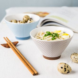 Million jia japanese-style tableware ceramic bowl with a single student couples nice small bowl high hot soup bowl