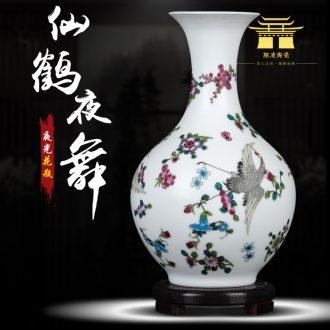 Vase of jingdezhen ceramics glaze color ideas on frosted luminous porcelain home flower arrangement sitting room adornment is placed