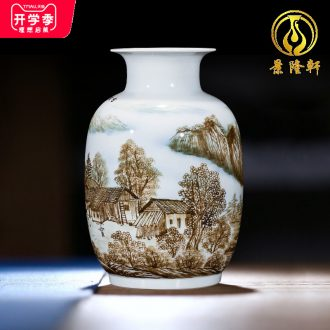 Jingdezhen ceramics hand-painted vases, flower arrangement wine porch home decoration sitting room TV ark furnishing articles