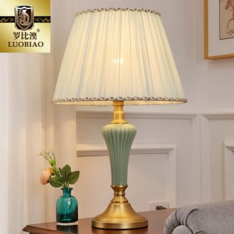 Europe type desk lamp bedroom nightstand lamp creative contracted American study warm and romantic home decoration ceramic lamps and lanterns