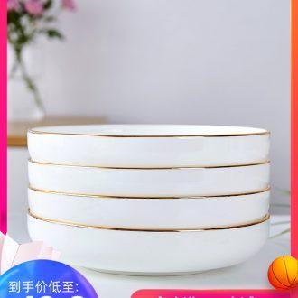 Jingdezhen cutlery sets phnom penh 0 home round the bone porcelain ceramic white porcelain dish deep litter of six