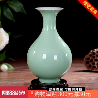 Jingdezhen ceramics shadow blue glaze pomegranate antique vases, flower of Chinese style household adornment handicraft furnishing articles sitting room