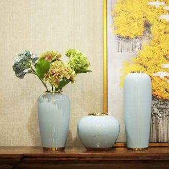 Light new Chinese vase luxury furnishing articles dried flower arranging flowers sitting room TV ark contemporary and contracted ceramic home decorations