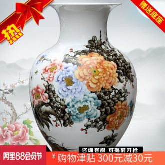 Jingdezhen ceramic hand-painted peony is the only thing the French vases, flower arranging the study large household living room furnishing articles