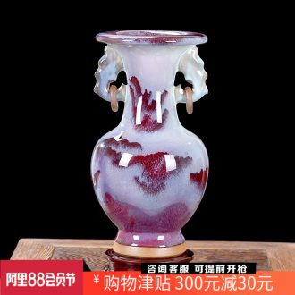 Archaize of jun porcelain of jingdezhen ceramics slicing vase modern classical home sitting room adornment handicraft furnishing articles