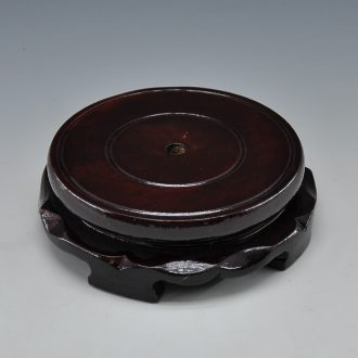 Scene rhyme and household puts handicraft furnishing articles into the base ceramic wooden base