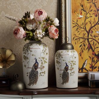 Modern American storage tank ceramic vase household TV ark ou the sitting room porch soft adornment restoring ancient ways furnishing articles