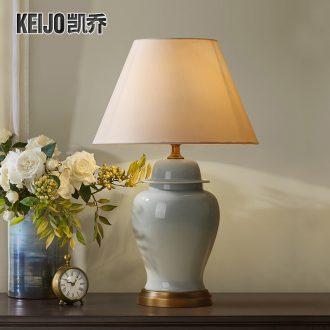 Catron had American ceramic desk lamp big lamp contracted sitting room adornment lamp American country bedroom berth lamp of lamps and lanterns