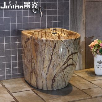 JingYan marble ceramic mop pool home European mop pool mop mop pool balcony toilet tank pool