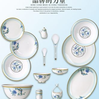 Dishes suit household european-style phnom penh high-grade bone porcelain tableware of French luxury ceramic bowl bowl a delicate combination